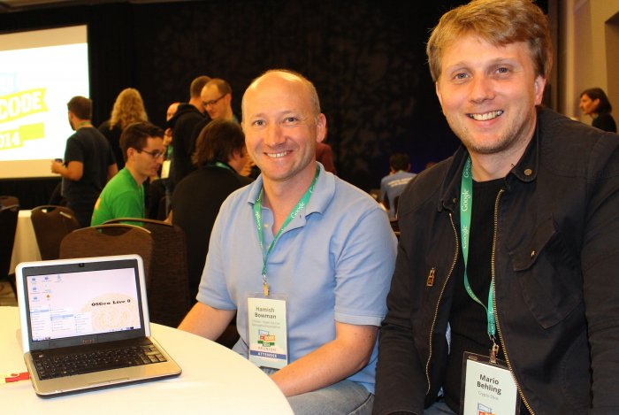 Google Reunion Hamish Bowman and Mario Behling Lubuntu Founder